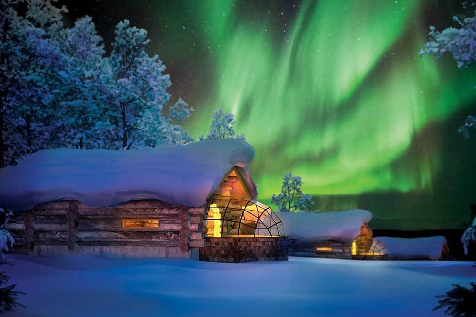 Das Nordlicht in Kakslauttanen