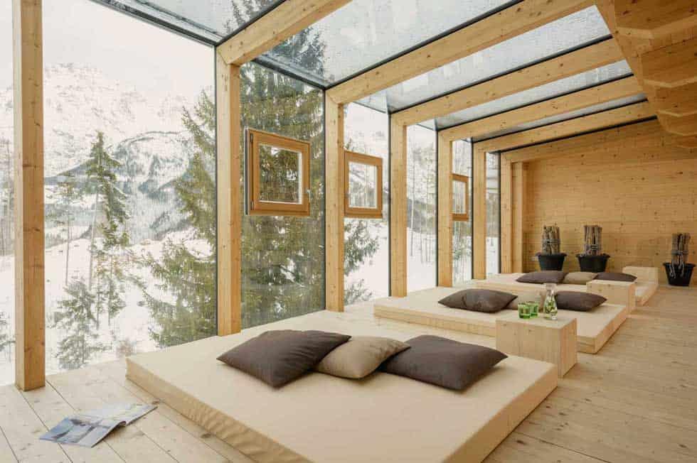 Das Holzhotel Forsthofalm