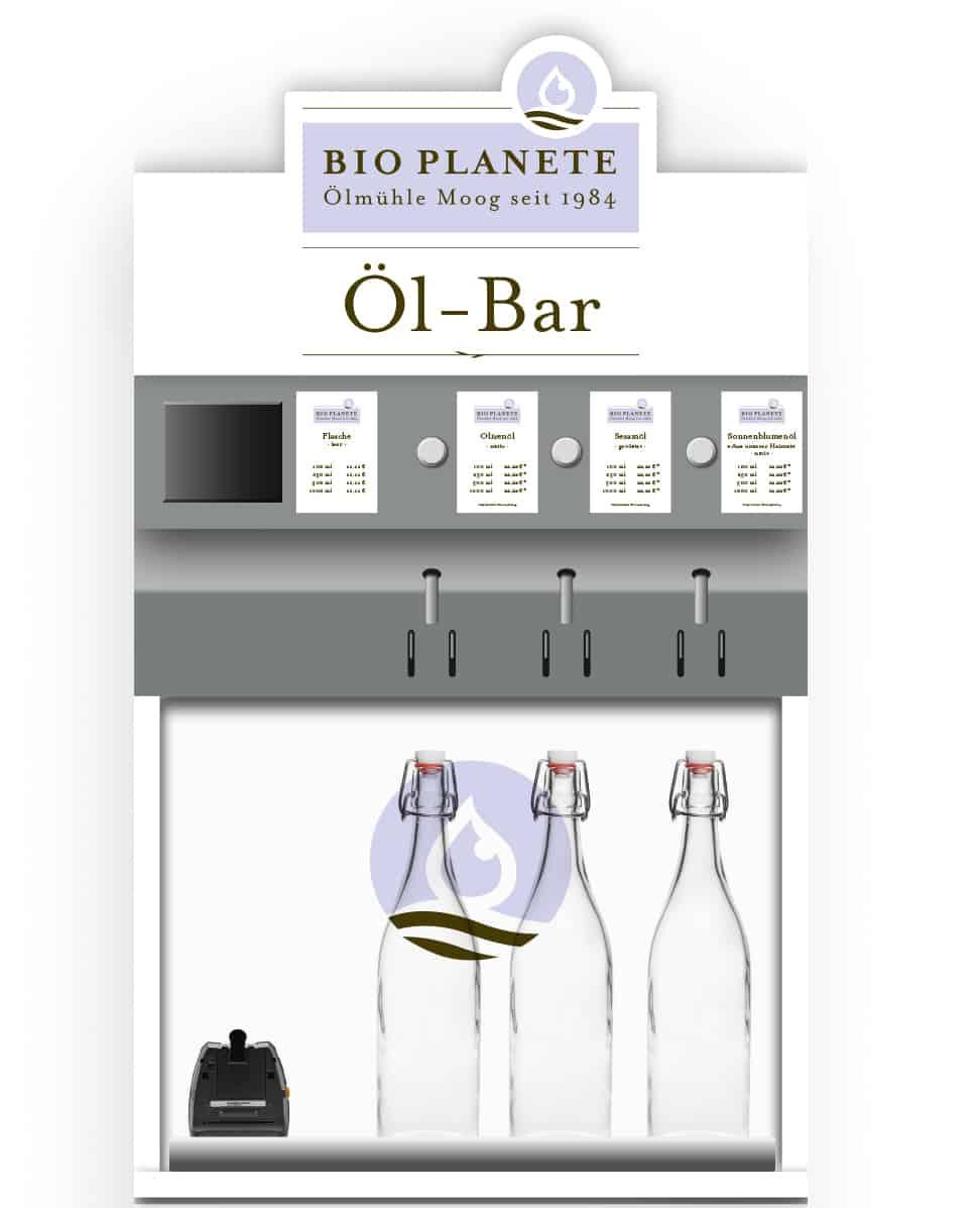 BIO PLANÈTE bringt erstmals Öl-Bar-Konzept in den Bio-Fachhandel