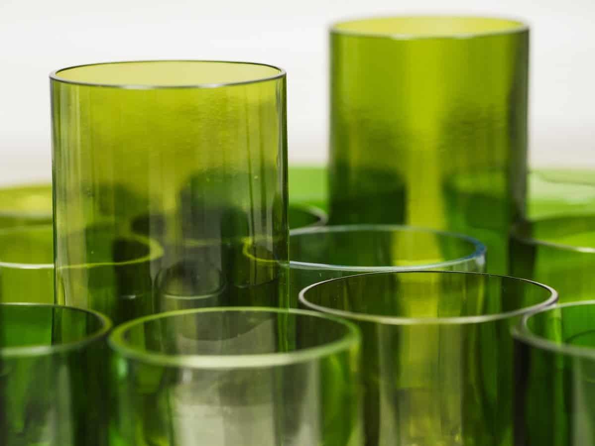 Schöne Geschenkideen aus leeren Weinflaschen: Hovy Glass