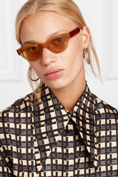 Gideon Sonnenbrille von Andy Wolf mit karamellfarbenem Rahmen aus Azetat um € 380,-