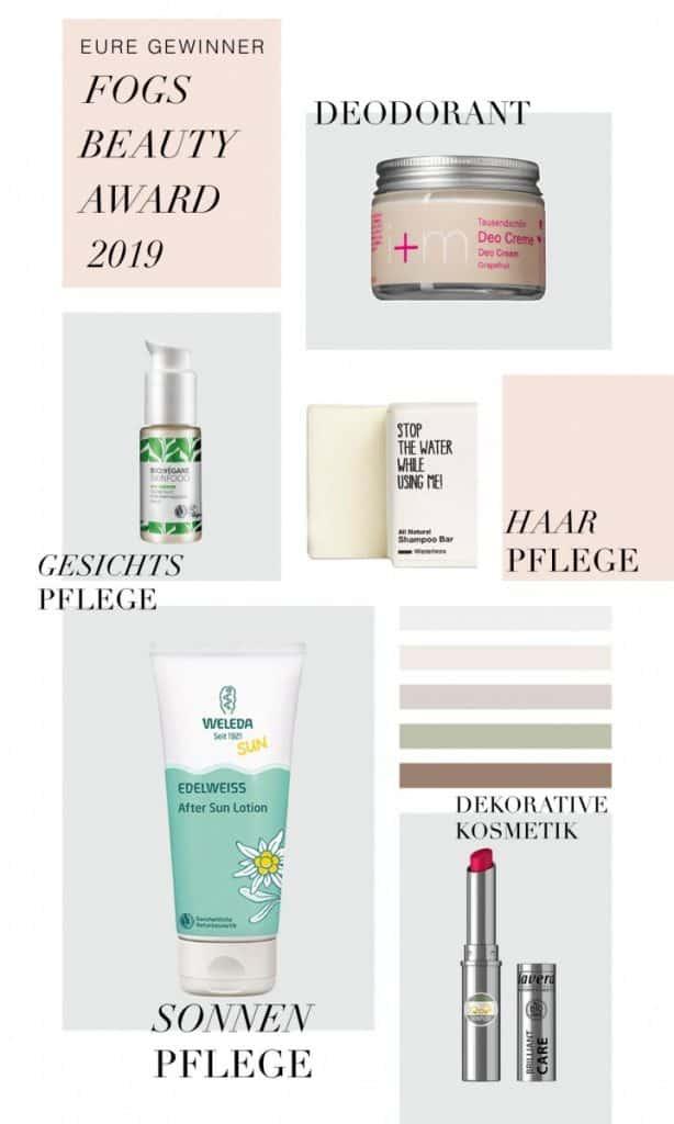 Gewinner FOGS Beauty Award, Green Beauty Produkte