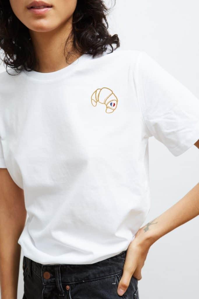 T-Shirt Croissant um € 45,- via keurparis.fr.  ⓒ Keurparis