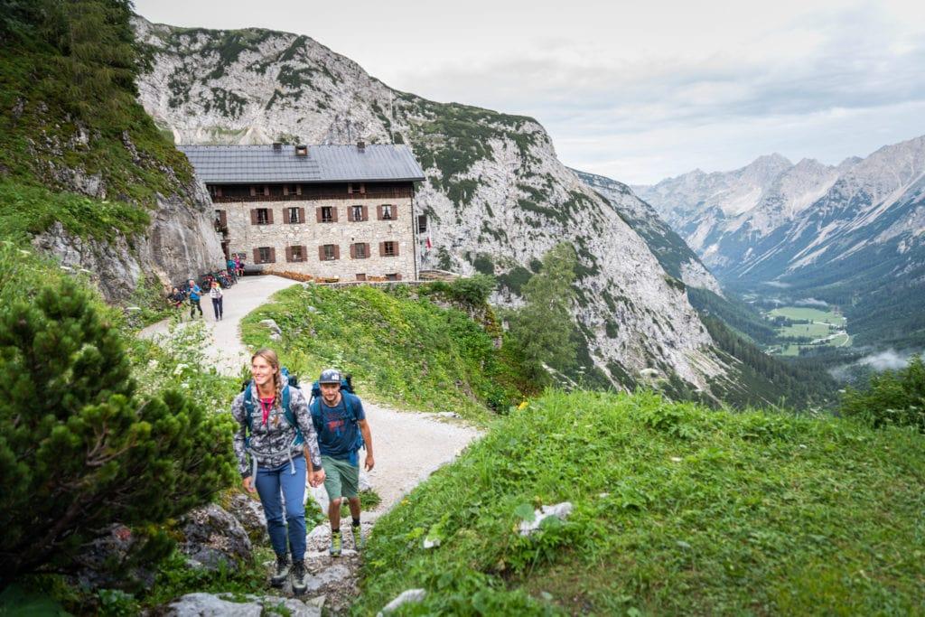 Wandern auf die Birkkarspitze vom Karwendelhaus