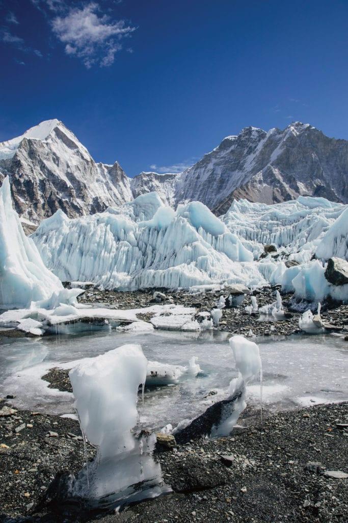 Gletscherlandschaft Bally Peak Outlook Mount Everest