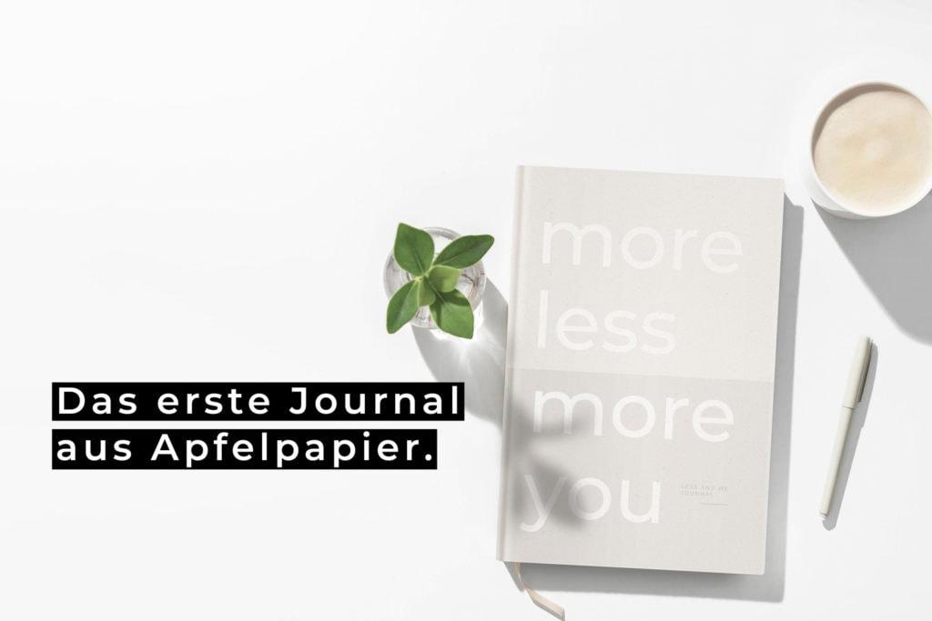 LESS AND ME Journal aus Apfelpapier