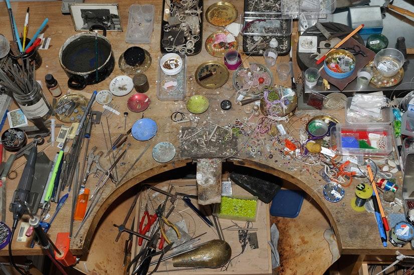 Das Atelier der Münchner Goldschmiedin Dorothea Schippel
